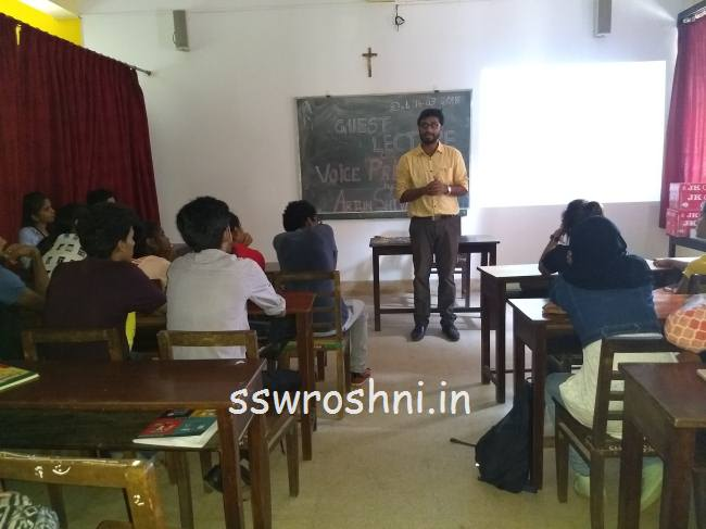 Guest Lecture On Voice Print Analysis Ssw Roshni