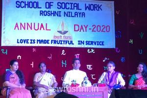 Annual College Day 2020 celebration at School of Social Work, Roshni Nilaya