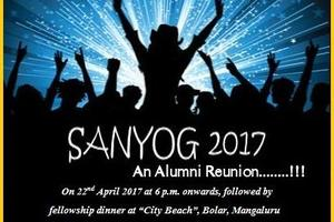 "Invitation : ""Sanyog 2017"" - Alumni Reunion : 22-April-2017"
