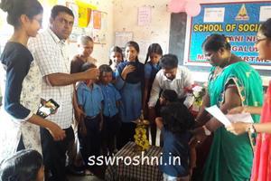 Roshni is in Action at Higher Primary School, Ombatkere,Ullal.5-4-2019.