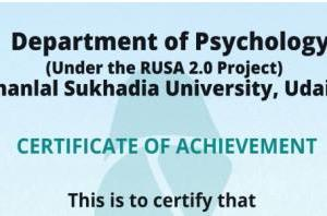 National Workshop attended by the students of Psychology